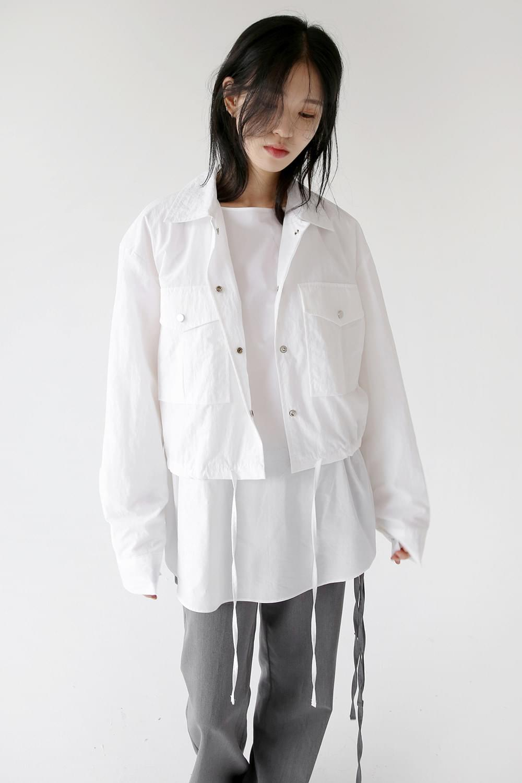 crispy light crop jacket