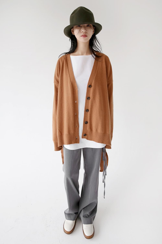 v neck boy fit cardigan (3colors)