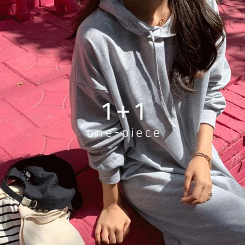 May Overfit Hooded Long Dress 1 + 1