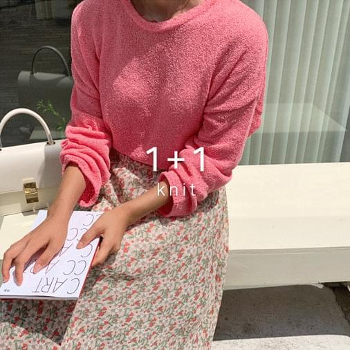 Bookle pastel cropped knit 1 + 1