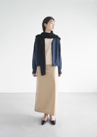 flat silhouette cardigan