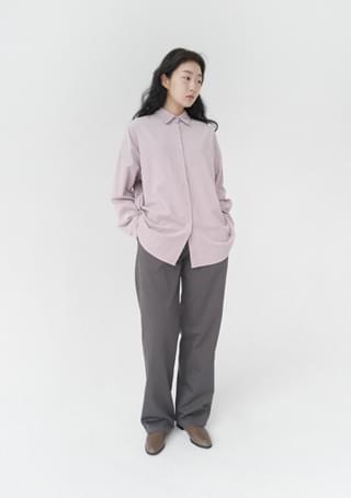 semi-wide pintuck cotton pants