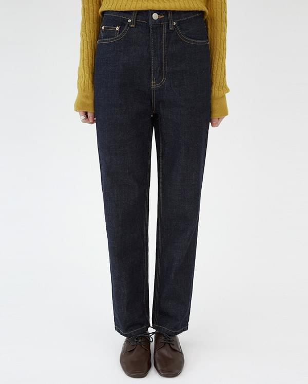 baldy stitch denim pants