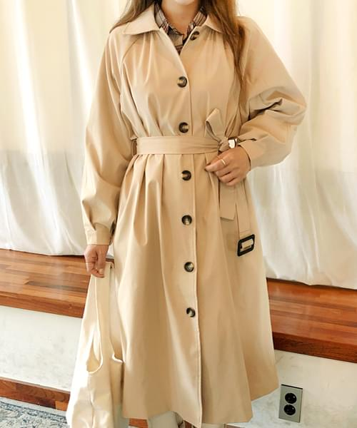 Pretty balloon trench coat to wear