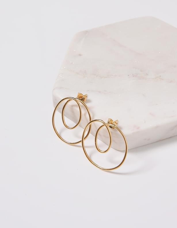 Cress kink earrings