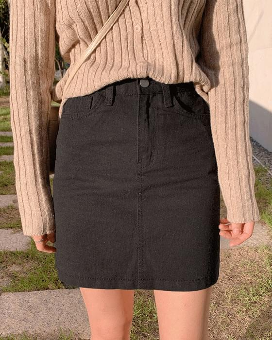 Daily Cotton Mini Skirt-3color