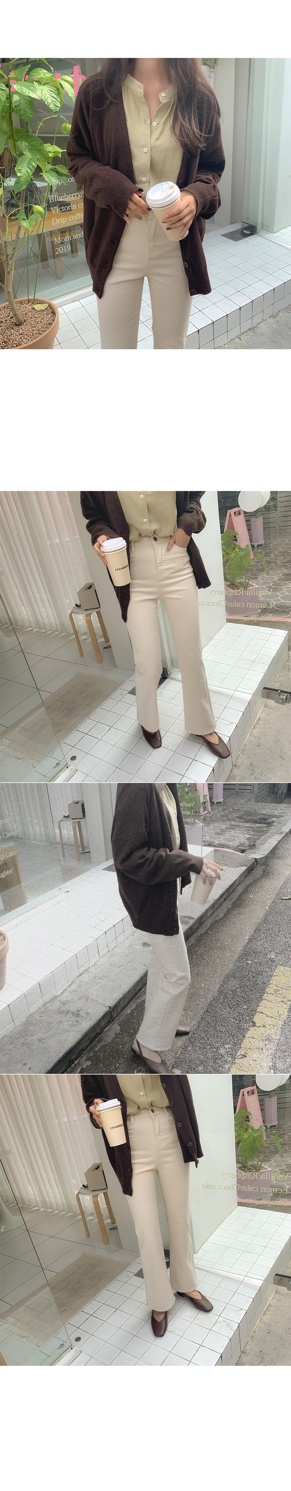 Anca Bootcut Cotton Pants