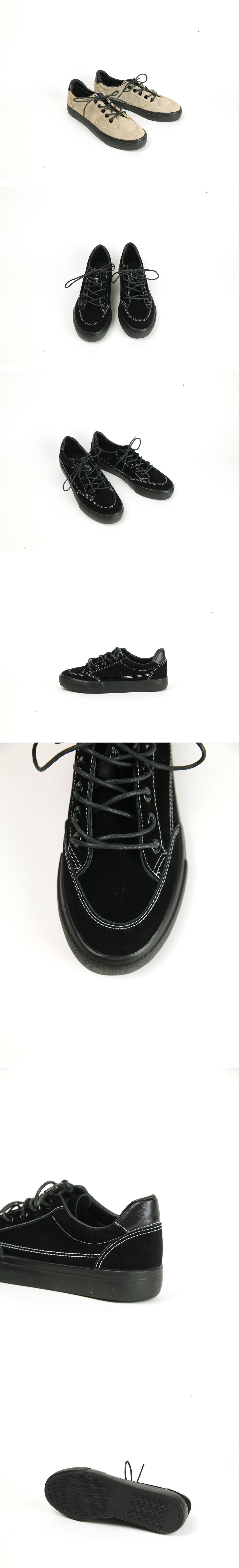 Suede stitched shoes
