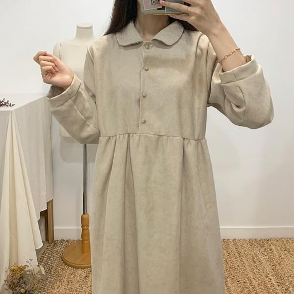 Love-in round collar long dress