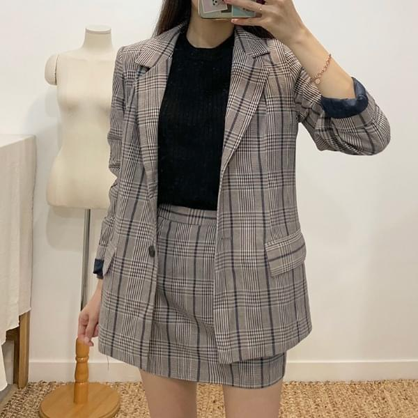 Rocky Blazer Check Two-Piece SET