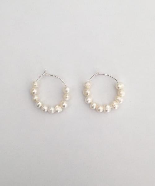 bunny pearl earring