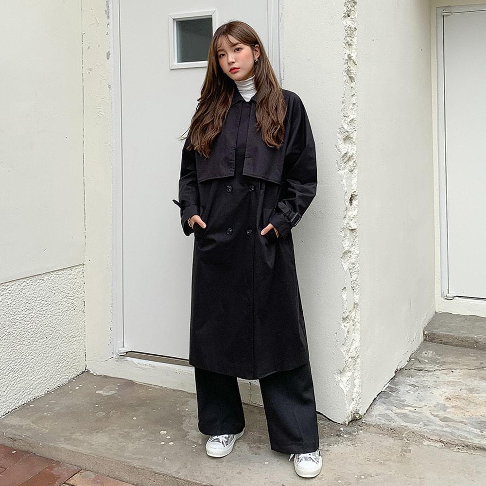 Trendy Strap Trench Coat コート