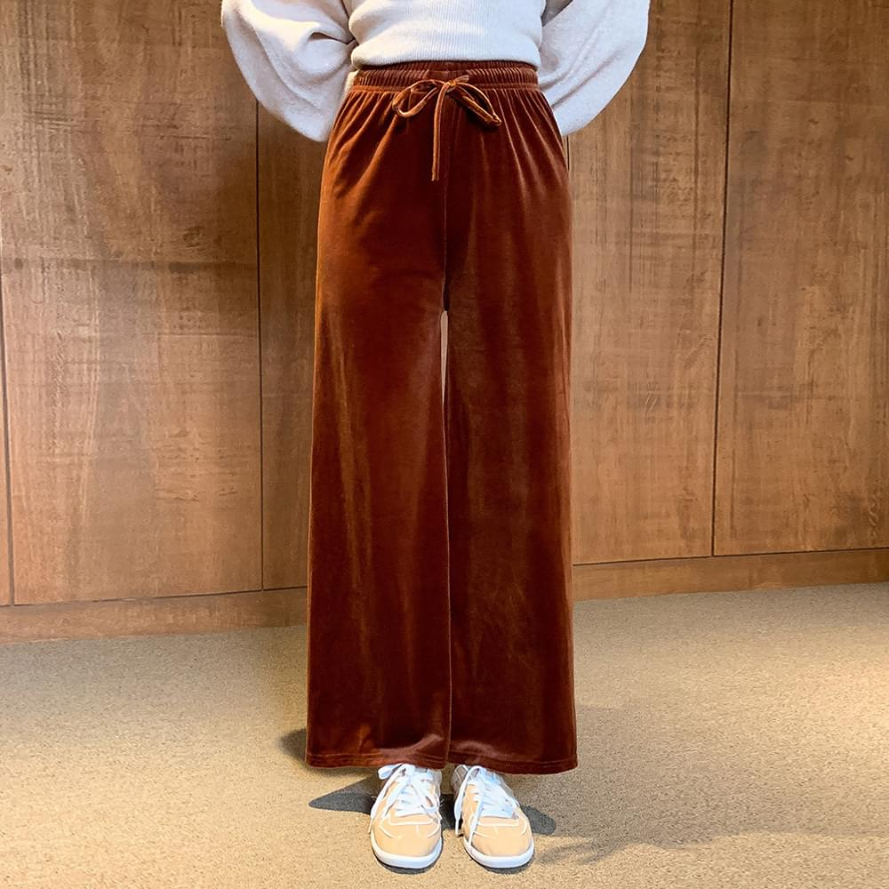 Wide Velvet Banding Pants