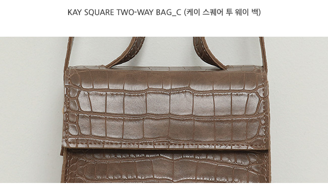 Kay square two-way bag_C