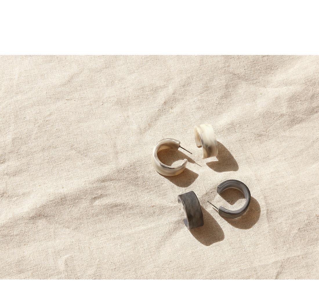 MATT MARBLE RING EARRING