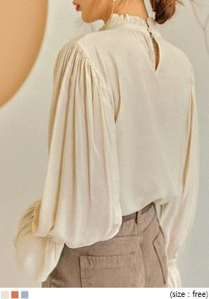 NELIA FRILL HIGH NECK BLOUSE