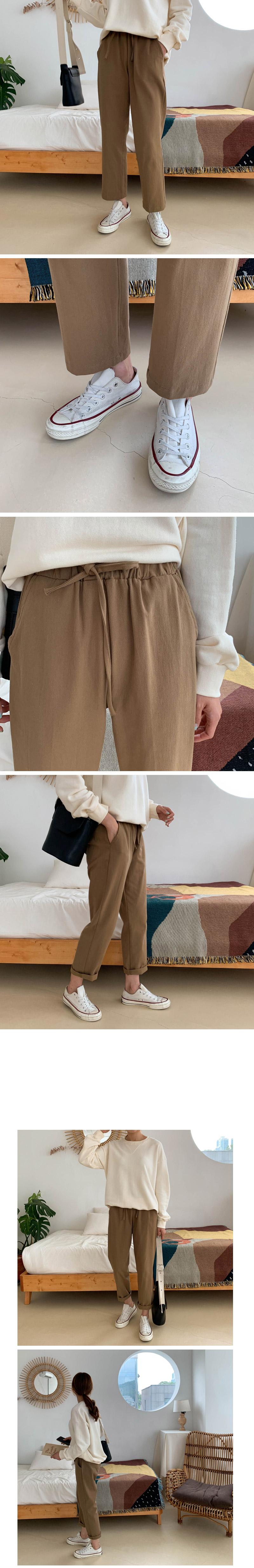 Roubene Boyfit Banding Pants