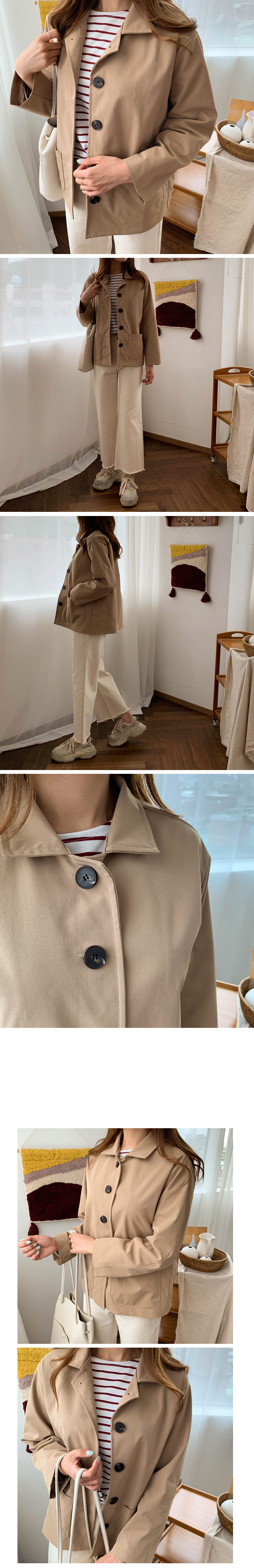 Pocket button night jacket