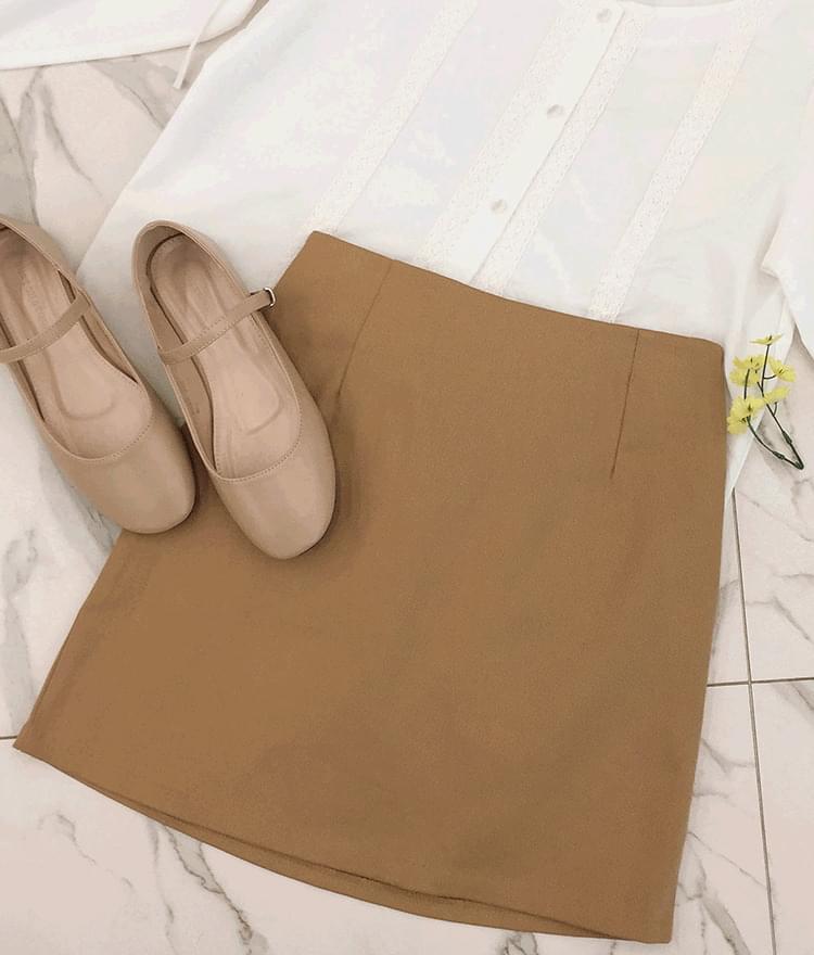 Plain cotton banding skirt