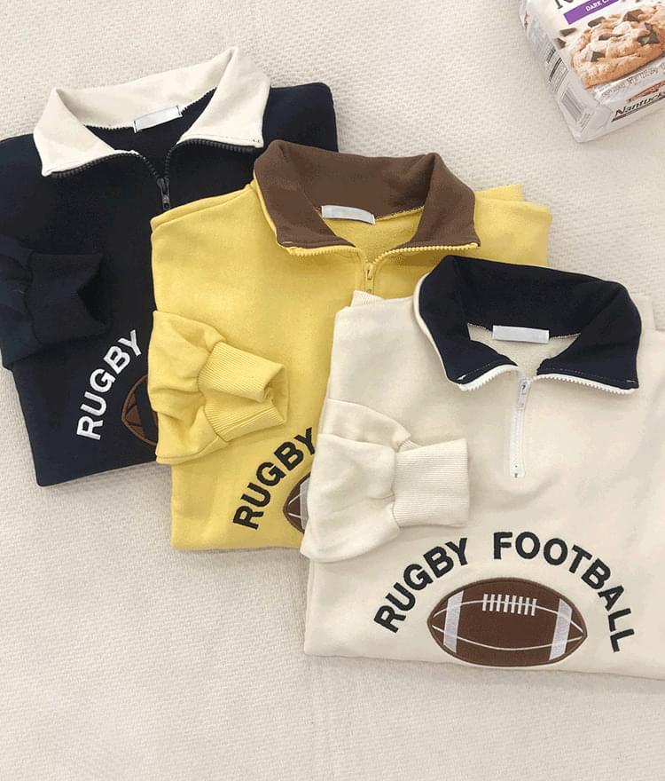 Rugby color half-up men