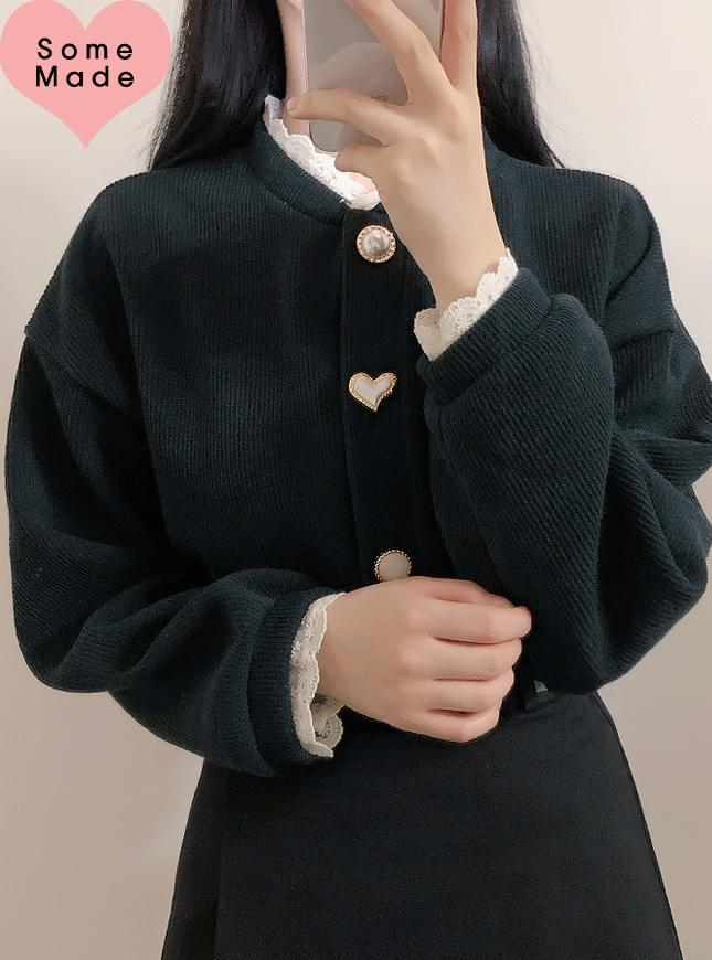 Hand-Made ♥ Life Jewelry Knit Cardigan