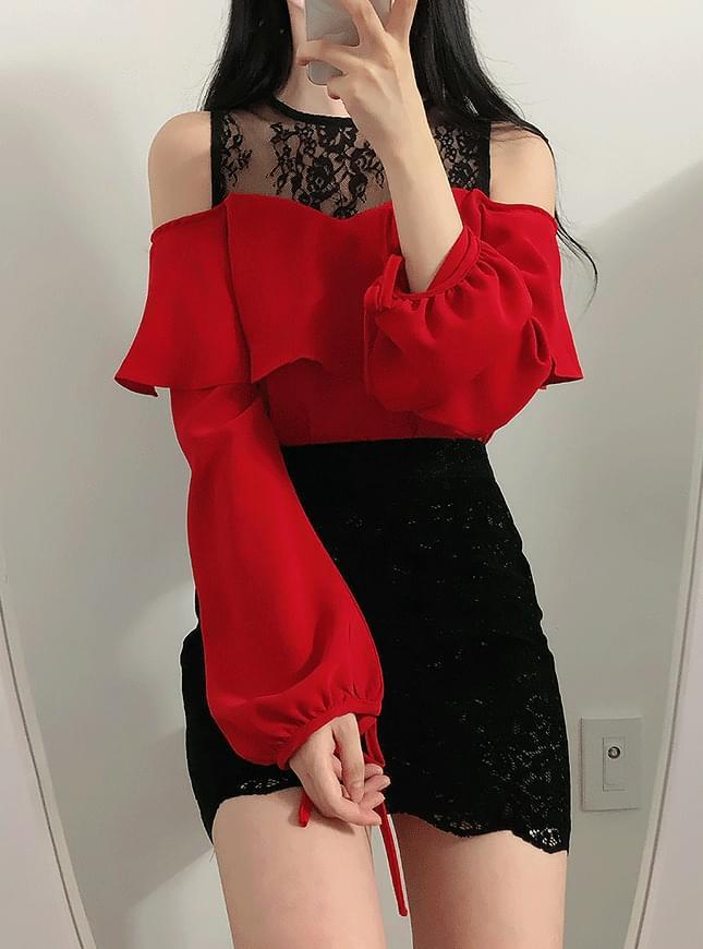 Nine lace off shoulder blouse