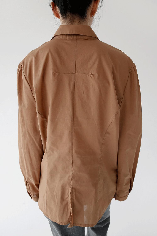 shoulder pintuck detail shirts (3colors)