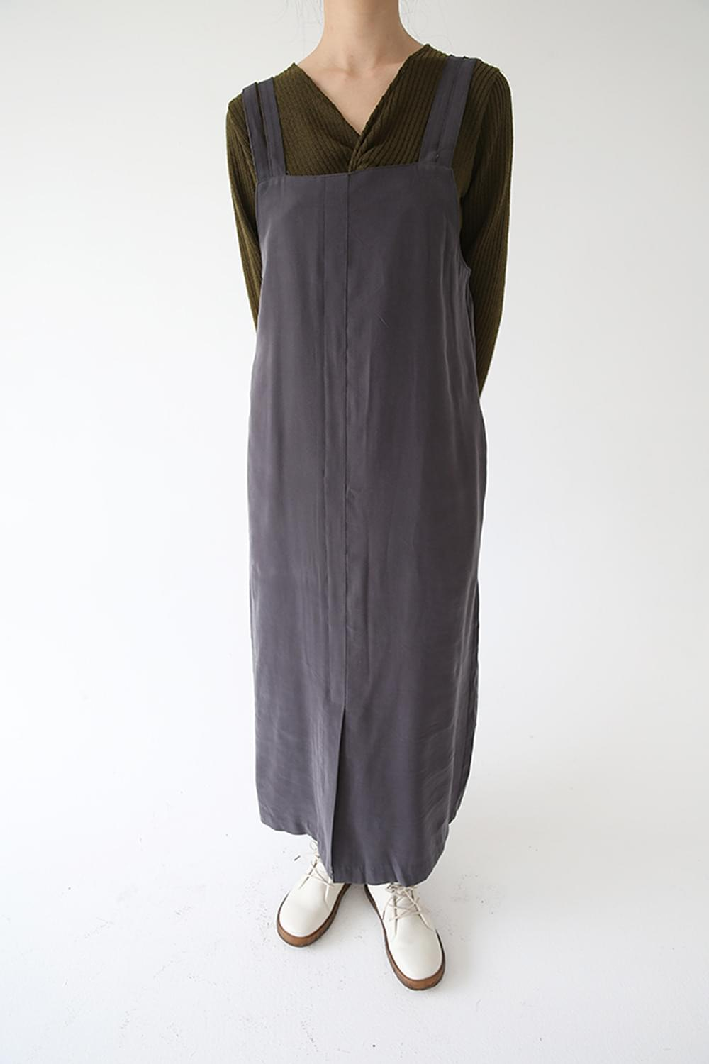 square neck line over dress (charcoal)