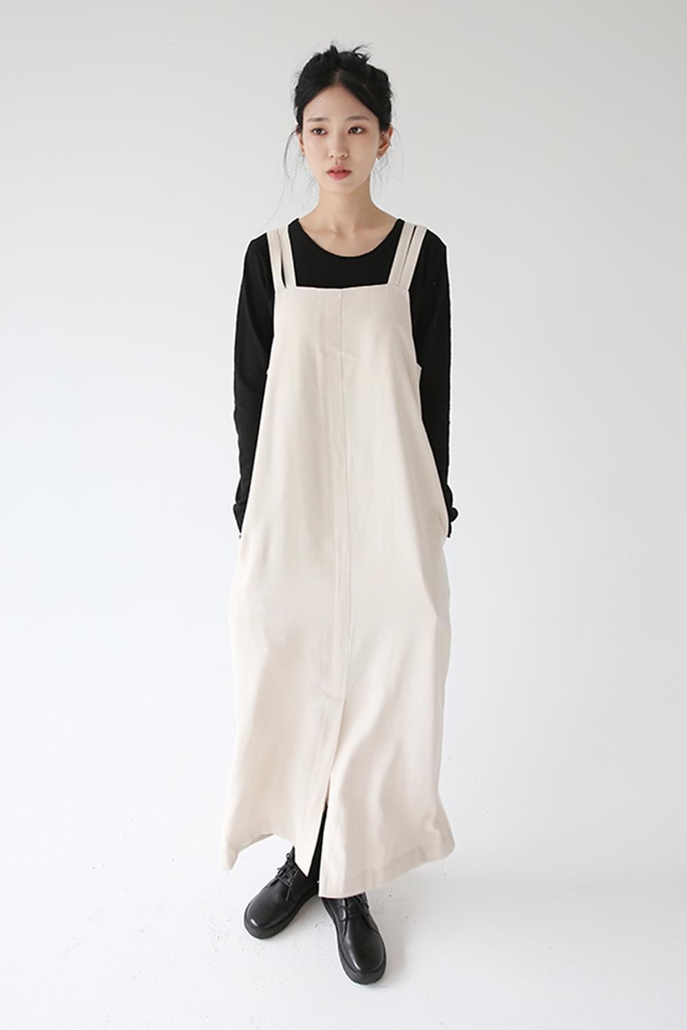 square neck line over dress (ivory)