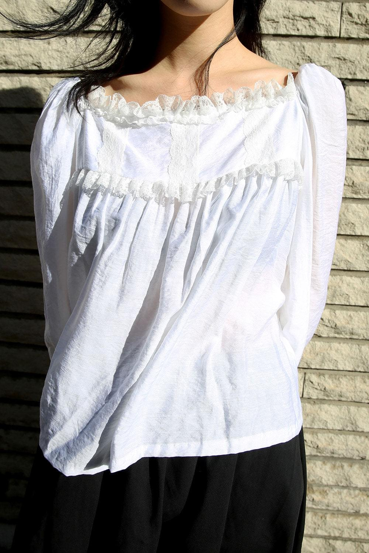 square neck pure blouse (2colors)