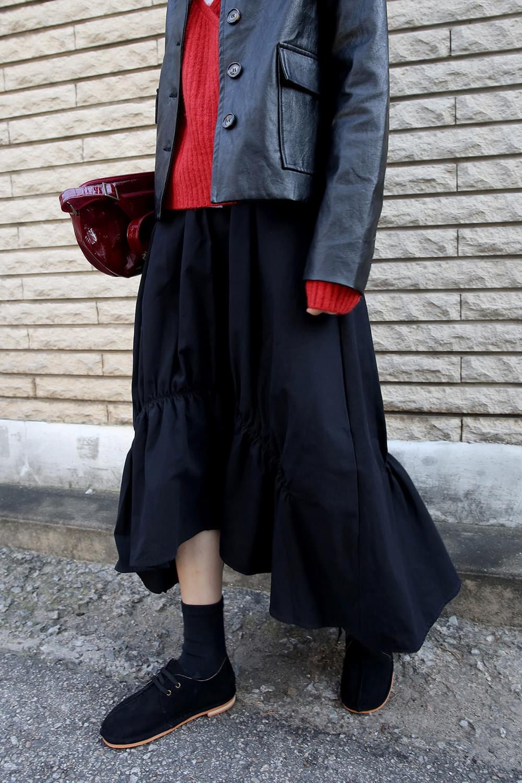 shirring crease nature skirts (2colors)