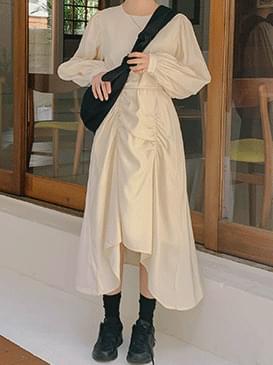 Unfooted Karen Shirring Long Dress