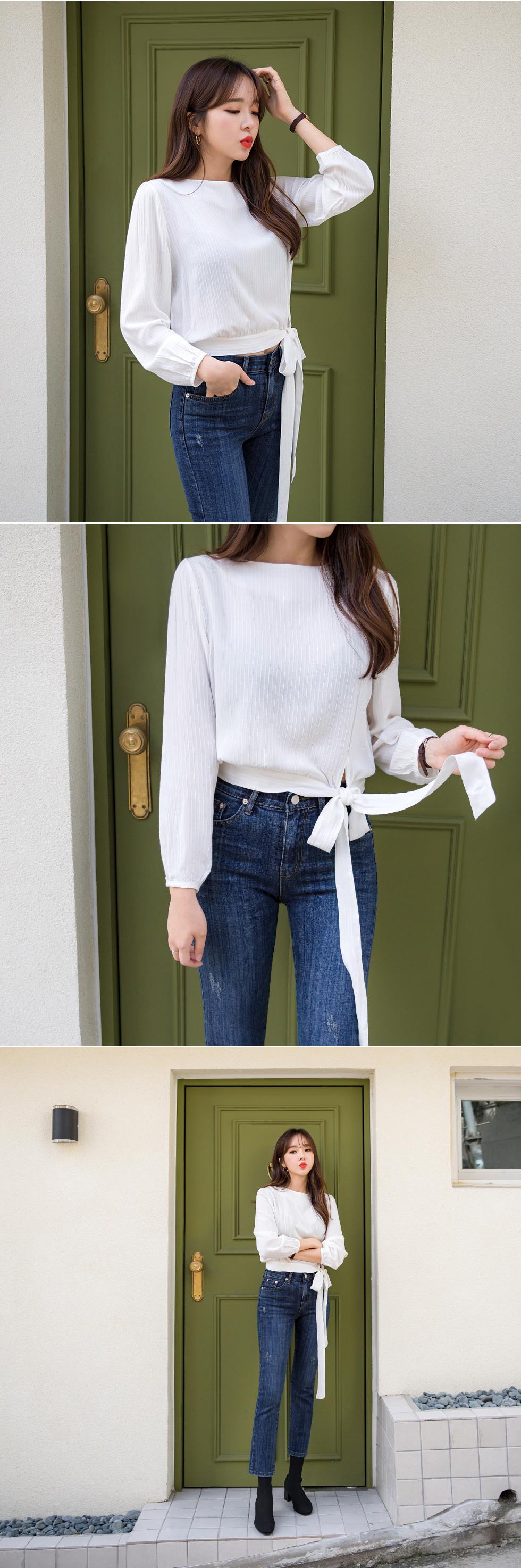 Macaroons ribbon blouse