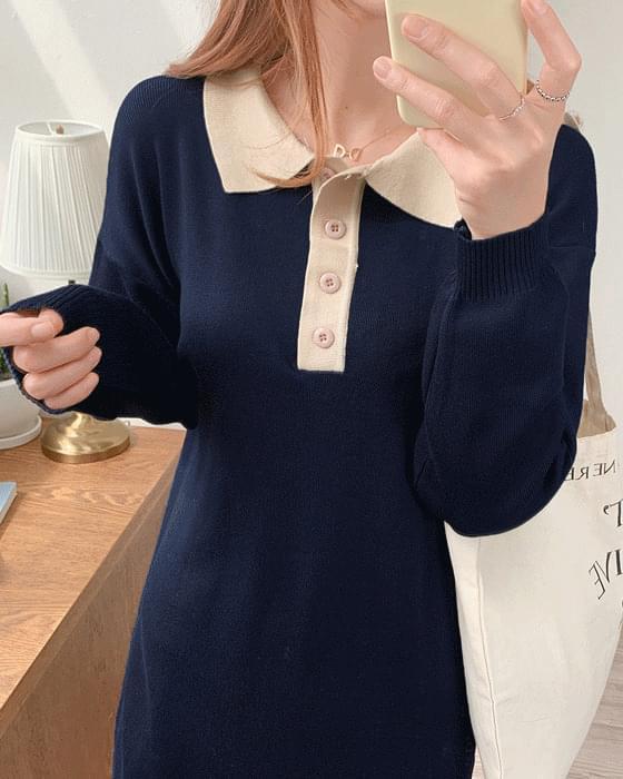Color Kara Long knit ops-2color