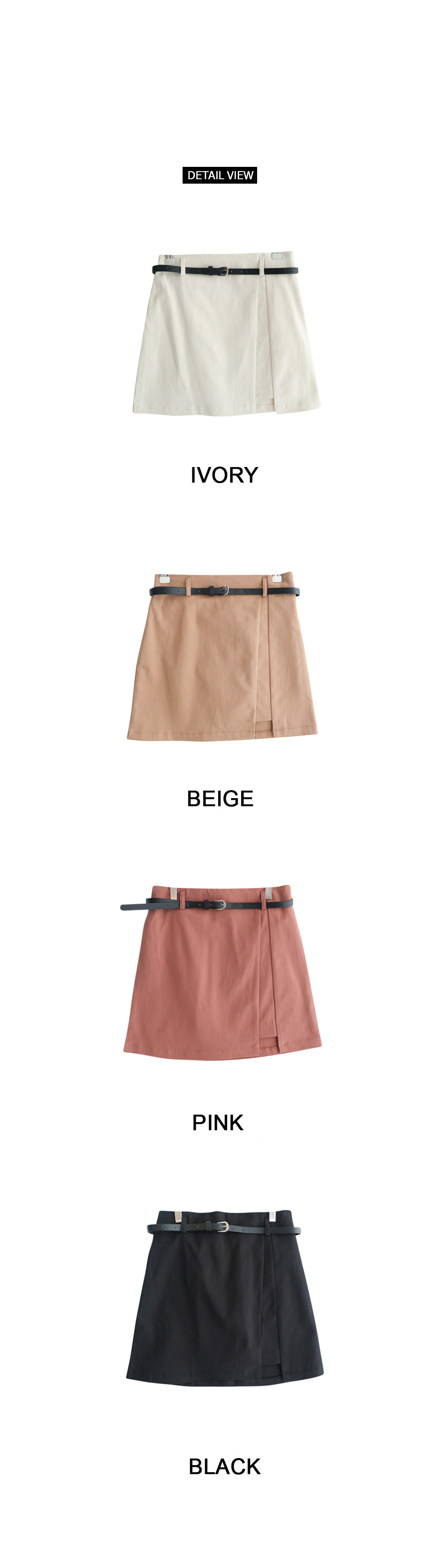 Dorothy belt trim mini skirt