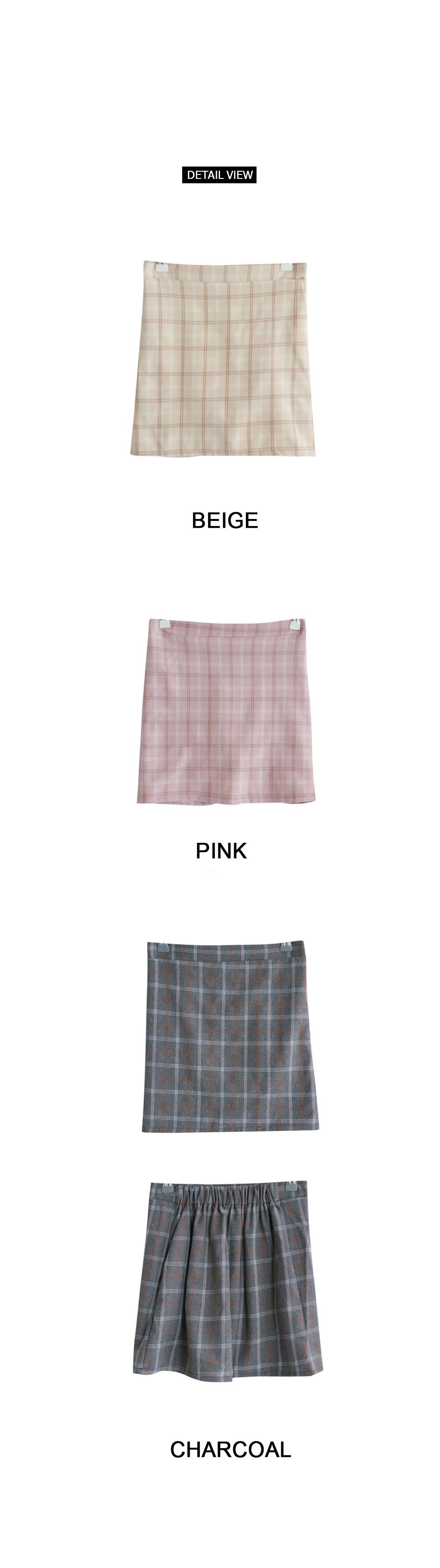Shushu check skirt