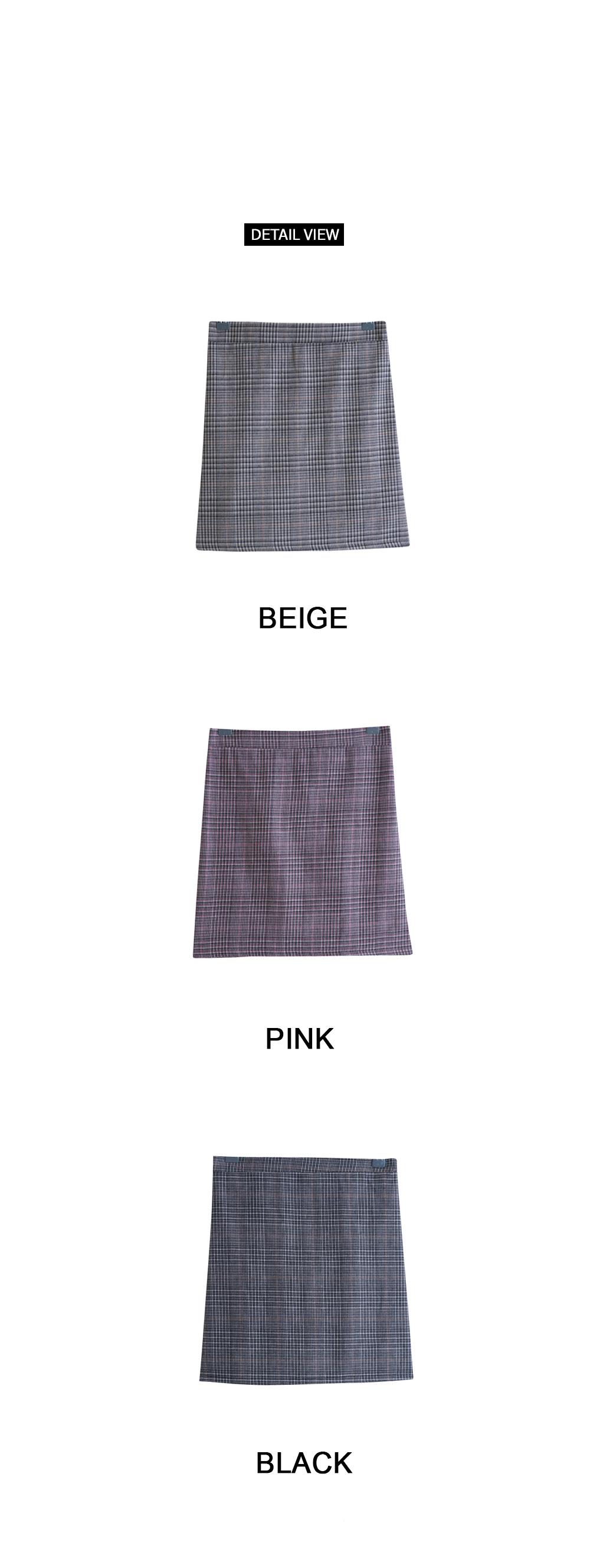 Wendy check skirt