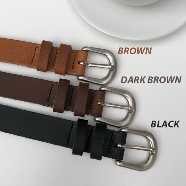 Plague cowhide belt