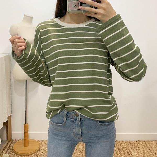 Cheese Stripe Round T-Shirt