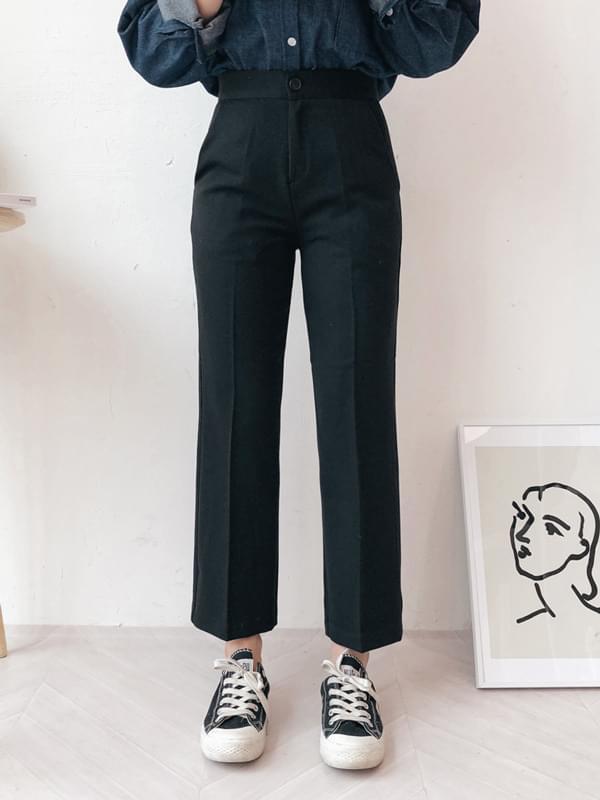 Slim straight fit pants