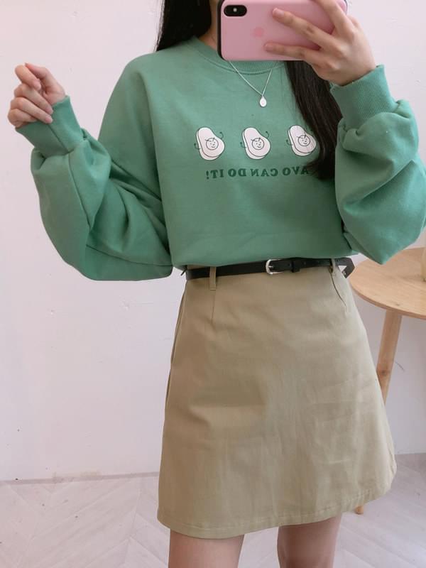 Avocado Man to Man T-Shirt