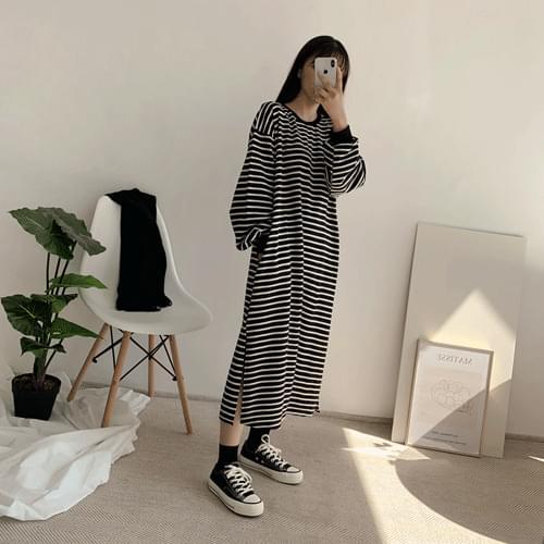 Eldan color long tea dress