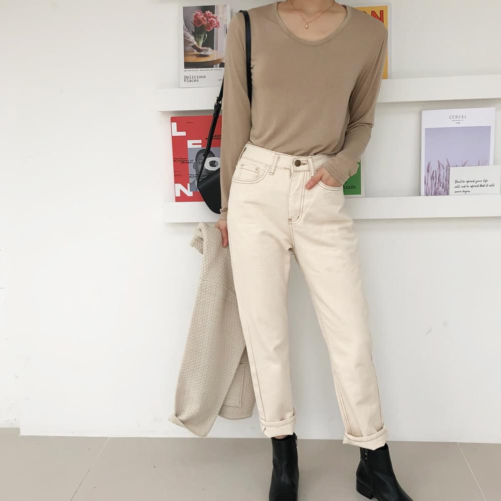 Sand beige pants