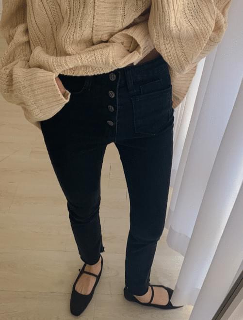 Four Button Slim Pants _Y