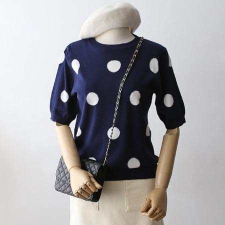 Dot blouse Women's knitwear