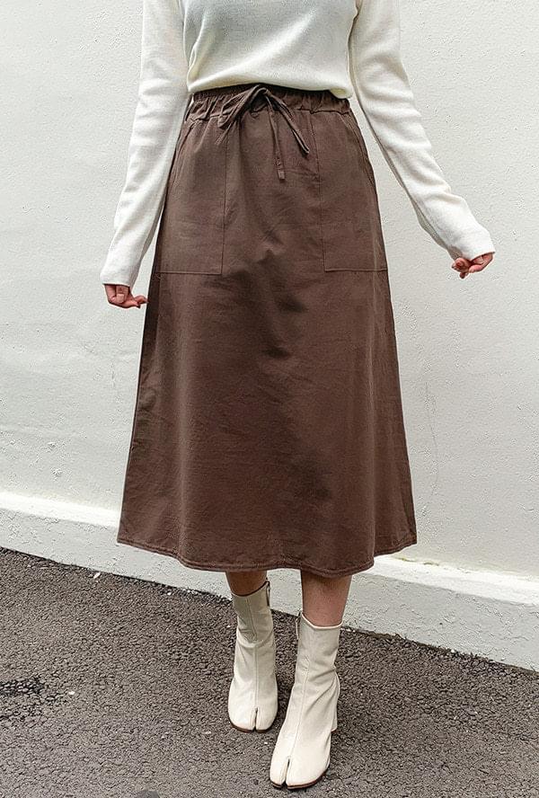 Out pocket banding skirt
