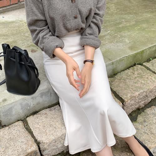 Aurora Mermaid Long Skirt-Cream M / Jean Beige S, M Size