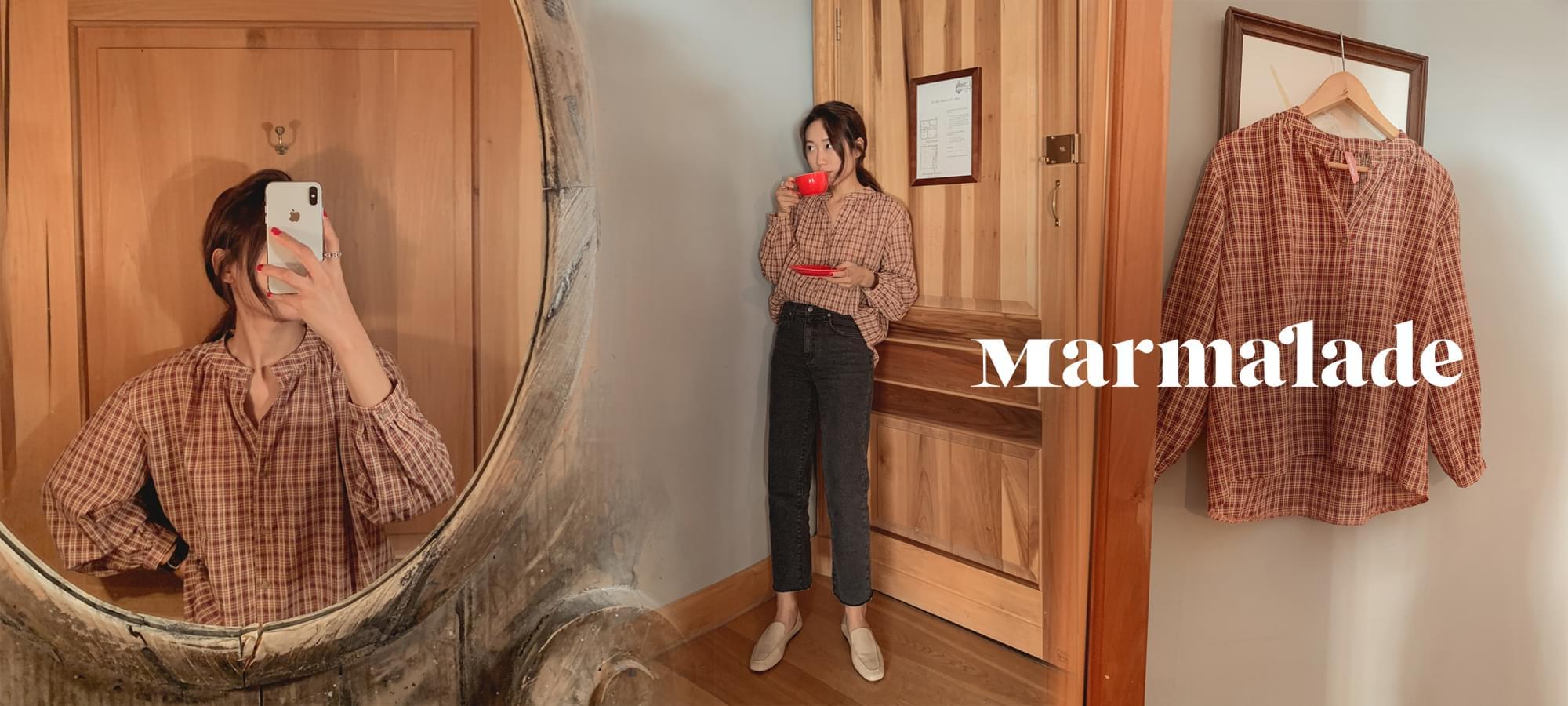 Marmalade ♥ .flat check blouse