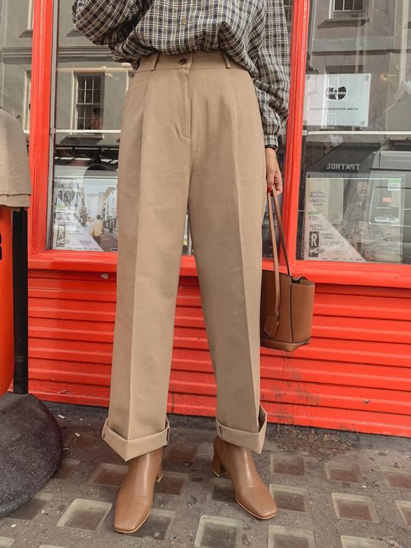Margaret pin tuck wide cotton pants