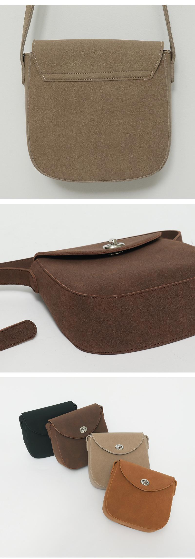 Suede belt strap cross bag_C